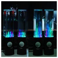 su dansı çeşmesi hoparlörü toptan satış-Mini Bilgisayar Hoparlörleri LED Işık Dans Su Gösterisi Müzik Çeşmesi Dizüstü PC Için Yüksek Kalite Sıcak Satış