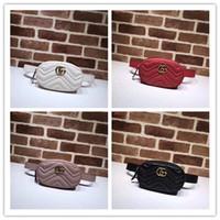 bolso para mujer de alta moda al por mayor-Diseñador de la mujer bumbag famosa marca de lujo mochila impresiones de moda monederos de cuero genuino de alta calidad bolso de la cintura niños bolsos bolso de hombro