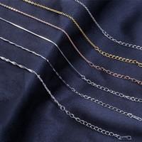 925 silbernes kettenporzellan freies verschiffen großhandel-6 Arten 120pcs viel reale 925 Sterlingsilber-Halsketten-Kette 45cm für Goldsilber-Anhänger-Schmucksache-freies Verschiffen