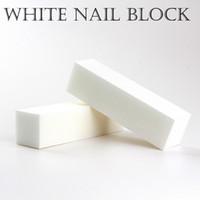 buffers de blocos brancos venda por atacado-60 PCS boa qualidade por atacado Branco Lustrando Polimento Lixar Bloco de Pedicure Manicure Care Nail arquivo Buffer para SALÃO