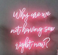 Wholesale 12v orange resale online - Why Are We Not Having Sex Right Now Neon Light Sign Home Beer Bar Pub Recreation Room Game Lights Windows Glass Wall Signs inches