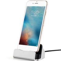 iphone usb bağlantı istasyonu toptan satış-Orijinal Sync Veri Hızlı Şarj Dock İstasyonu Masaüstü Yerleştirme Şarj USB Kablosu iphone 5 SE 6 7 8 Artı X XS MAX XR