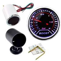 medidor de vacío al por mayor-Hight Quality 2 Pulgadas 52mm Cars Autos Vehículo Humo Blanco LED Turbo Boost Gauge Meter Car Instruments