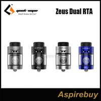 Wholesale Upgrade System - GeekVape Zeus Dual RTA Tank Innovative Leak-proof Top Airflow System with Upgraded Postless Build Deck Easy Building for Single Dual Coils