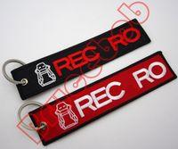 ingrosso tessuto a maglia leggera-nuovo design REC Cars Portachiavi del motociclismo Tessuti a maglia Portachiavi in cotone con ricamo a forma di ciondolo 5 modelli