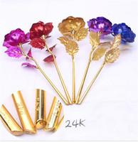 apenas ouro venda por atacado-24 k folha de ouro banhado a rosa decoração de casamento de ouro rosa flor artificial única flor OR base de flor frete grátis