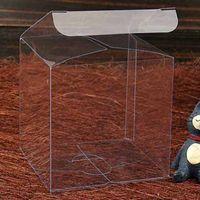 perfume meninos venda por atacado-11 cm a 20 cm quadrado claro caixa 20 pcs7 tipos de Grande caixa de presente da fruta do menino quadrado transparente Perfume doce PVC transparente