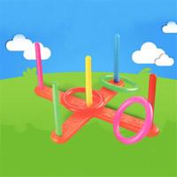 yığın oyunu toptan satış-Yeni Yaratıcı Çocuklar Eğlenceli Oyun Klasik Zeka Eğitici Oyuncaklar Bebek İstifleme Yüzükler Çocuk Yüzük Toss Cast Atmak Çember Set Oyuncaklar