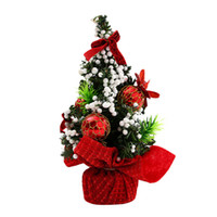 игрушечная елка оптовых-Merry Christmas Tree Bedroom Desk Decoration Toy Doll Gift Office Home Children Aug30 Professional Factory price Drop Shipping