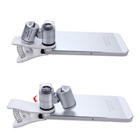 microscopio de bolsillo de lupa al por mayor-60X Zoom Cellphone Lupa con LED y luz ultravioleta Clip-on Celular Microscopio para todos los teléfonos móviles Tamaño de bolsillo