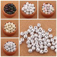jóias de cor religiosa venda por atacado-500 pçs / lote 10mm Cruz Rodada Spacer Beads Acrílico Plástico Cor Sortido Rodada Religiosa Bead L3116 Jóias DIY