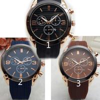 büyük saatler toptan satış-Relogio masculino 45mm askeri spor stil büyük erkekler saatler 2018 lüks marka moda tasarımcısı siyah dial benzersiz silikon büyük erkek saat