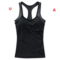 Wholesale Xxl Sexy Girls - Sleeveless Sports T Shirts Women Summer Casual T-shirt Letters Printed Tank Top Sexy Girls Sports Camisoles Quicky Dry Running Yoga Vest