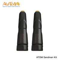 Wholesale black rda atomizer resale online - ATOM Sandman Mech Kit with Njord RDA Tank Atomizer with Triple angled airflow Powered by Single Battery E cig Kit NO battery