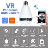 nachtsicht sicherheitskamera großhandel-WiFi IP-Birnen-Licht-Kamera FishEye 960P 360 Grad Vollständige Ansicht Mini-CCTV-Kamera 1.3MP Nachtsicht Home Security Panorama