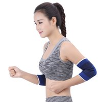 Wholesale elastic support sleeve online - Outdoor Sports Safety High Elastic Elbow Brace Sleeve Elbow Pad for Sport Fitness Elbow Support Absorb Sweat Elbows Protector Free DHL G906Q