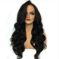 Wholesale human hair side part for sale - Group buy Human Hair Lace Front Wigs Wigs Brazilian Body Wave Wig For Black Women Wet And Wavy Full Lace Brazilian Hair Virgin Side Part