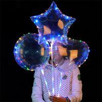 ingrosso la decorazione ha condotto la luce gonfiabile-Palloncini gonfiabili a LED Palline per bomboniere in lattice Pallone aerostatico per feste Decorazione natalizia Ornament Palloncino chiaro romantico T1I200