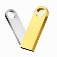 msata mini toptan satış-10 Parça Hiçbir Logo 4 GB 8 GB Mini Metal USB Sürücüler Yepyeni Kapasite Yeterli U Disk USB2.0 Flash Sürücü Metal USB Bellek Sopa