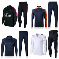 Wholesale quarter long suit jacket for sale - Group buy New Football Jacket Kit Long Sleeves Fly Emirates Soccer Training Suit Man Fashion Running Sets Hot Sale hb Ww
