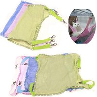 Wholesale portable kennels resale online - Soft Cat Breathable Mesh Hammock Kennels Portable Spring Summer Pink Blue Dog Bed With Hook Pet Supplies xa ff