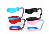 ingrosso supporti per tazze di plastica-50pcs 4 colori 30 once maniglia adatta per 30 once tazza di plastica supporto portatile per 30 once tazza camuffamento cooler rosso blu rosa nero