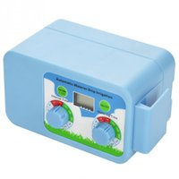 lcd su sayacı toptan satış-Otomatik Elektronik Sulama Timer Yağmur Sensörü LCD Ekran Sulama Zamanlayıcı Elektronik Bahçe Sulama Denetleyicisi