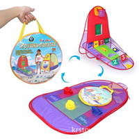 Wholesale children ball tent online - Children Toy Tent Shooting Game Indoor And Outdoor Puzzle Toys For Kids Tents Three In One Portable Give Sea Ball kr W