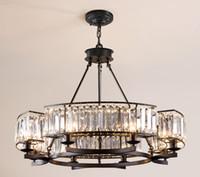 Wholesale loft style chandeliers for sale - Group buy American Retro Industrial RH Loft Led Chandelier Lustre Crystal Pendant Chandelier French Style Living Room Chandelier Lighting LLFA