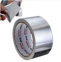 ingrosso nastro adesivo ad alta temperatura-Utile foglio di alluminio adesivo nastro di tenuta termica resistente condotto riparazioni ad alta temperatura resistente foglio adesivo nastro 5 cm * 17 m 2016