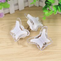 Wholesale plug mini night lights - White Plastic Night Light Wall Plugged In Mini Lamp Easy To Use Butterfly Shape LED Lights For Home Decor 0 98bk B