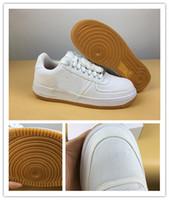 zapatos de plata de calidad al por mayor-Venta al por mayor Nuevo Travis blanco plata hombres zapatillas deportivas de entrenamiento de moda de calidad superior con tamaño de caja 7-11
