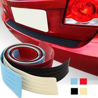 Wholesale rear spoilers resale online - 1Pcs Car Rear Bumper Sill Protector Plate Rubber Cover Guard Back Door Boot Trim Lip Splitter Body Spoiler x cm