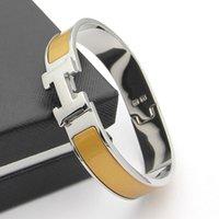 Wholesale Christmas H - B37 fashion H bangle fashion silver color bracelet for women party jewerly love bracelet