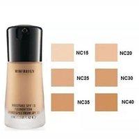 ingrosso venditori al dettaglio-Best Seller Impermeabile Makeup Face M @ C Mineralizzare l'umidità Illuminare Liquid Foundation Spf15 30ML NUOVO IN SCATOLA con scatola al minuto