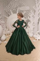 a48e7805c989a Wholesale emerald green girls christmas dress for sale - 2019 New Christmas  Girls Pageant Dresses Wedding