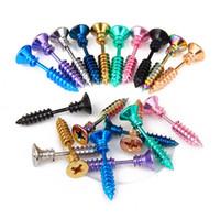 Wholesale Spike Piercing Jewelry - Screw Earrings Men'S Women'S Stainless Steel Punk Hip-Hop Rock Screw Spike Rivet Stud Earring Nail Piercing Ear Studs Jewelry