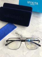 Wholesale new design sunglasses for men resale online - New mykita sunglasses for man pilot frame with mirror ultralight frame Memory Alloy oversized sunglasses for women cool outdoor design