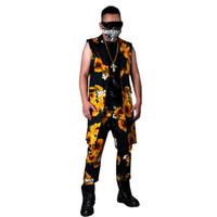 Conjuntos de trajes casuales para hombres (chaleco + pantalón) Chaleco de  chaqueta larga de girasol Cantante masculino Bailarín DJ Traje de estilo Hip  Hop ... 5b75bd6be45