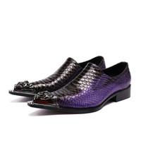chaussures oxford talons hauts achat en gros de-Cuir Véritable Hommes Chaussures À Talons Hauts Alligator Chaussures Pour Hommes Robe De Mariage Chaussures Formelles Fer Pointe Pointue De Luxe Oxford