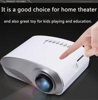 dlp construída projector wi-fi 3d venda por atacado-2018 Mini LED Projetor Home Theater Portátil Vídeo Projetor Home Multimídia Cinema TV Laptops Smartphones RD-802 Branco