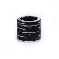 Wholesale close image - Kooka KK-FT47A Aluminium AF Auto Focus TTL Extension Tube Set for Micro 4 3 M4 3 SLR Camera Close-up Macro Photography Image