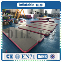 Wholesale anti slip track resale online - Inflatable Air Track Tumbling Gymnastic Yoga Taekwondo Water Floating Camping Foldable Training Anti slip Mat with W Electrical Pump