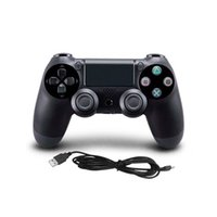 Wholesale joystick vibration game - Sensitive Control USB Wired Gamepad Controller For PS4 Game Controller Vibration Joystick Gamepads For PC Game Food Grade Plastic