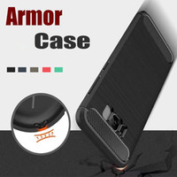 Wholesale ultimate protection - Rugged Armor Hybrid Carbon Fiber Anti-Shock The Ultimate Experience Protection Soft TPU Back Cover Case For Samsung S7 Edge A3 5 7 2017