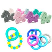 Wholesale animals teeth online - Silicone Baby Teethers Bracelets Rings Horse Necklace Teether Baby Soothers Safe Healthy BPA Free Silicone Teething Baby Nursing Teeth