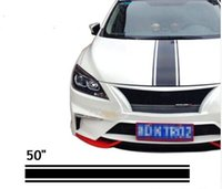 """Wholesale Sticker Stripe - (20*127cm Roll) 50"""" Car Styling Hood Roof Tail Decal Vinyl Racing Stripe Sticker For AMG V40 DS4S Golf Polo Fit 308S TIIDA"""