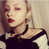 Wholesale hot girls sexy american - Hot 1Pcs Women Necklace Sexy Punk Goth Cross Choker Necklace Leather Pendant Collar Charm Maxi Neck Jewelry Girls Gifts 2018