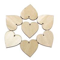 темно-картон оптовых-40 мм деревянные формы сердца украшения небольшой мини-форма для украшения ремесла 100 шт. / компл.