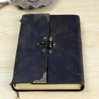 diario encuadernado en cuero vintage al por mayor-Revista de cuero vintage antiguo Diario de viaje de Buffalo hecho a mano - Cuaderno de escritura de cuero suave clásico